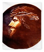 Head Of Christ Fleece Blanket
