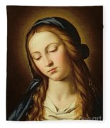 Head Of The Madonna Fleece Blanket