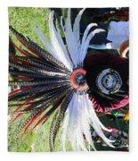 Head Piece Dancer Day Of The Dead  Fleece Blanket