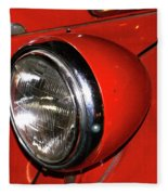 Headlamp On Red Firetruck Fleece Blanket