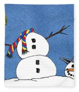 Headless Snowman Fleece Blanket