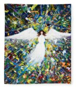 Healing Angel 1 Fleece Blanket