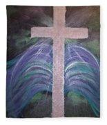 Healing In His Wings Fleece Blanket