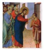 Healing The Man Born Blind Fragment 1311 Fleece Blanket