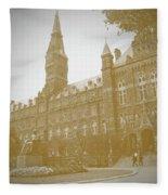 Healy Hall Sepia Fleece Blanket