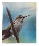 Hear Her Song - Hummingbird Art Fleece Blanket