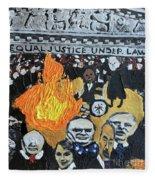Hear No Evil See No Evil Judicial Abuse Fleece Blanket