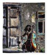 Hear The Cello Sing Fleece Blanket
