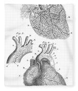 Heart Anatomy, Illustration, 1703 Fleece Blanket