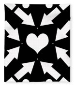 Heart And Arrows Fleece Blanket