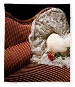 Heart And Rose Victorian Style Fleece Blanket