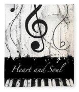 Heart And Soul - Music In Motion Fleece Blanket