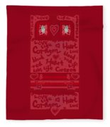Heart Art Fleece Blanket