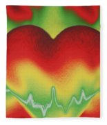 Heart Beat Fleece Blanket
