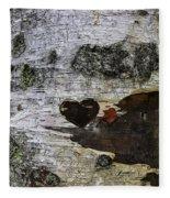 Heart Carved In Tree Fleece Blanket