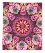 Heart Garden Fleece Blanket