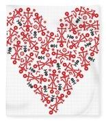 Heart Icon Fleece Blanket