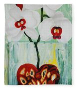 Heart In Bloom Fleece Blanket