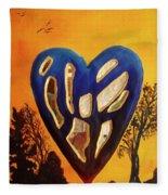 Heart In Glory Fleece Blanket