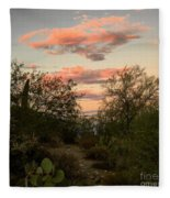 Heart In The Clouds Fleece Blanket