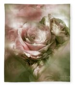 Heart Of A Rose - Antique Pink Fleece Blanket