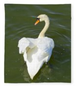 Heart Of A Swan Fleece Blanket