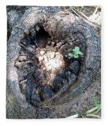 Heart Of A Tree  Fleece Blanket