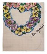 Heart Of Flowers Fleece Blanket