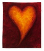 Heart Of Gold 2 Fleece Blanket
