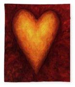 Heart Of Gold 3 Fleece Blanket