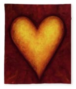 Heart Of Gold 4 Fleece Blanket