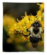 Heart Of The Bee Fleece Blanket