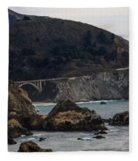 Heart Of The Bixby Bridge Fleece Blanket