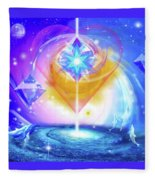 Heart Of The Galaxy Fleece Blanket