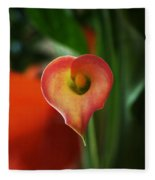 Heart Of The Lily Fleece Blanket