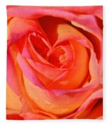 Heart Of The Rose Fleece Blanket
