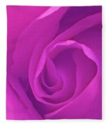 Heart Of The Rose Fleece Blanket