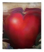 Heart Of The Sunrise Fleece Blanket
