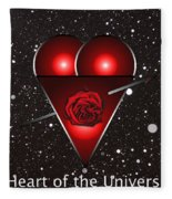 Heart Of The Universe Fleece Blanket