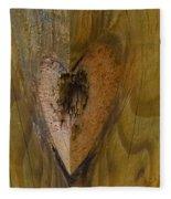 Heart Of The Wood Fleece Blanket