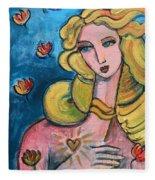 Heart Of Venus Fleece Blanket