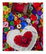 Heart Pushpin Chusion  Fleece Blanket