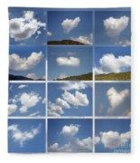 Heart Shaped Clouds - Collage Fleece Blanket