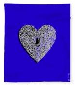 Heart Shaped Lock .png Fleece Blanket