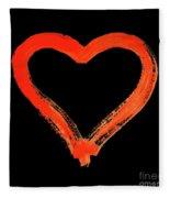 Heart - Symbol Of Love - Watercolor Painting Fleece Blanket