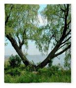 Heart Tree On Lake Saint Clair Fleece Blanket