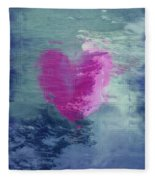 Heart Waves Fleece Blanket