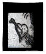 Heart Written In The Trees 3 Fleece Blanket