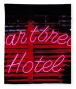 Heartbreak Hotel Neon Fleece Blanket