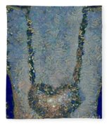 Hearted On Your Wall Again Medalion Painting Fleece Blanket